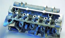 Solve the problem of processing the cylinder head valve seat conduit hole